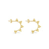 MINI TRIO TRIANGLE HOOPS, GOLD