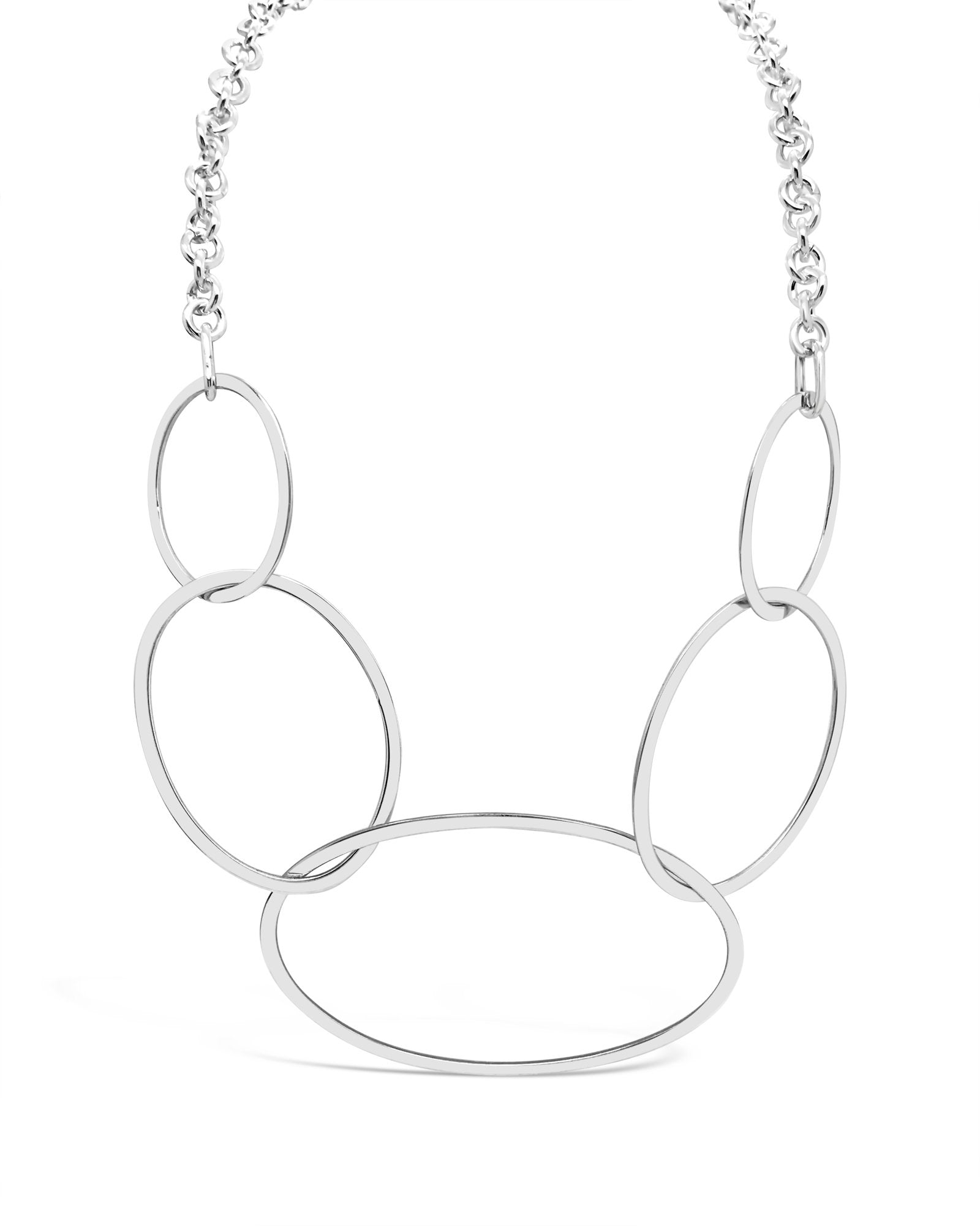 MULTI OVAL LINK NECKLACE