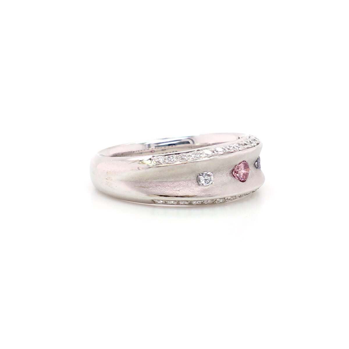 KIMBERLEY PINK AND BLUE TRINITY RING