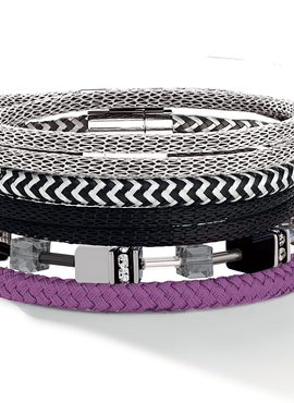 Braided textile bracelet purple 0115_31_0800