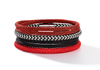 Braided textile bracelet red 0115_31_0300