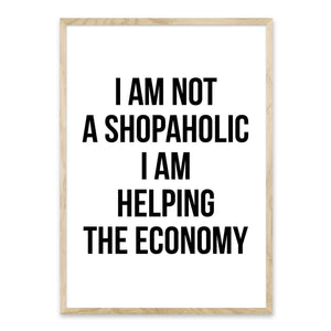 I am not a shopaholic