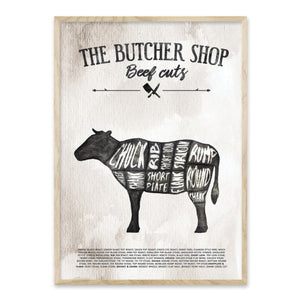 The Butchershop - Beef cuts - Plakat