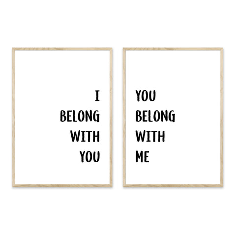 I belong with you + You belong with me - plakatpar