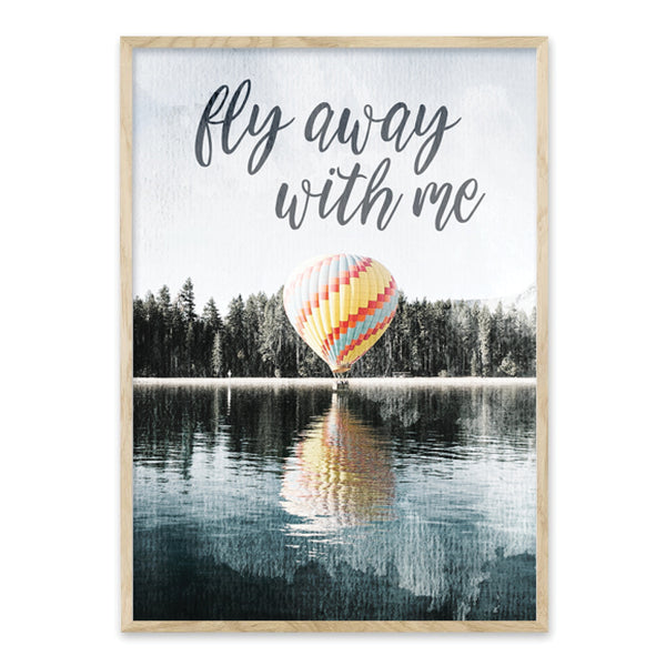 Fly away with me - Plakat