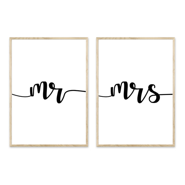 Mr + Mrs plakatpar