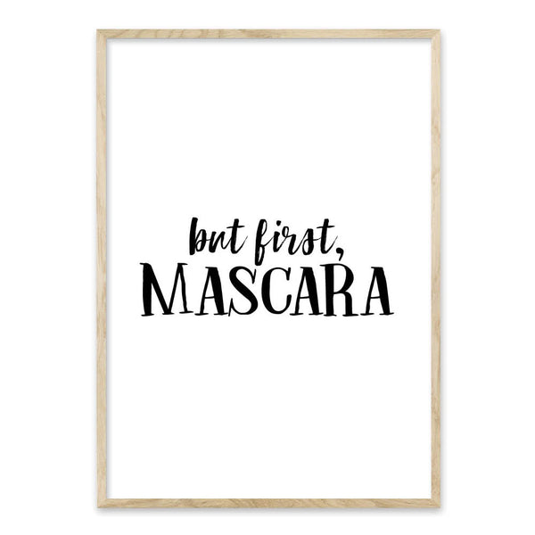 But first, mascara - plakat