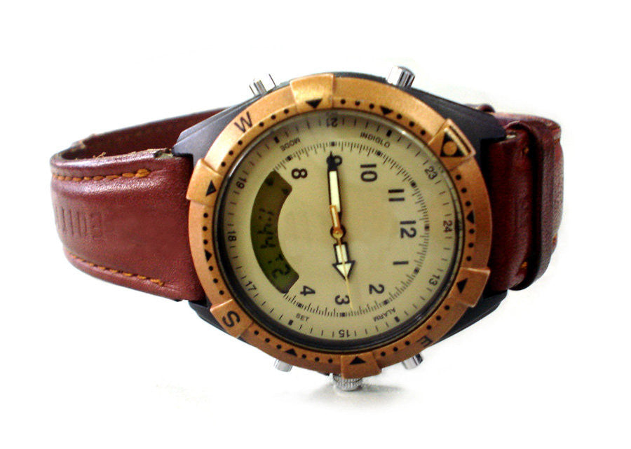 Mens Watch With Leather Strap