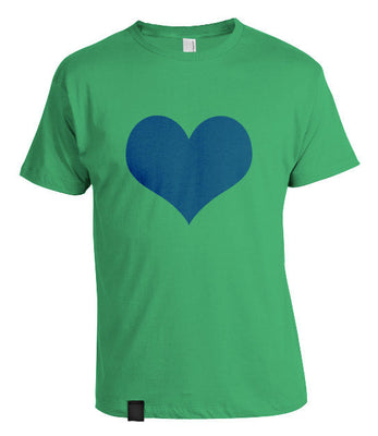 Love Heart T-Shirt Green