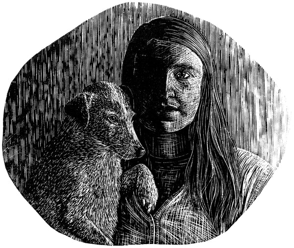 Molly Lemon Wood Engraver Self Portrait