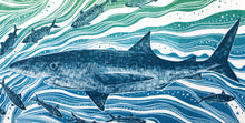 Load image into Gallery viewer, Molly Lemon Wood Engraving Shark