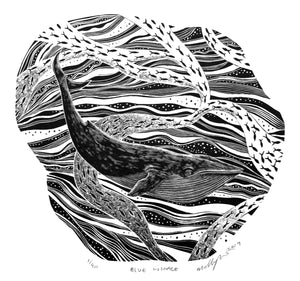 Molly Lemon Wood Engraving Whale