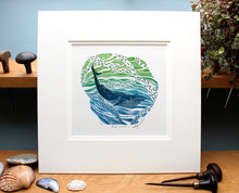 Load image into Gallery viewer, Molly Lemon Wood Engraving Whale