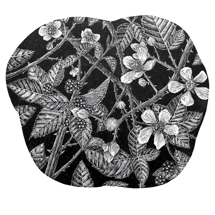 Molly Lemon Wood Engraving Brambles