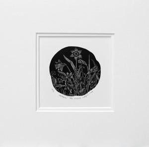 Molly Lemon Wood Engraving Daffodils