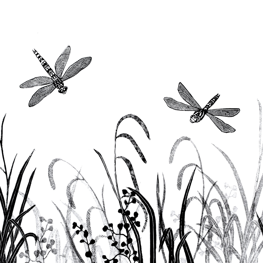 Molly Lemon Wood Engraving Dragonflies