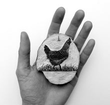 Load image into Gallery viewer, Hen Wood Engraving Molly Lemon