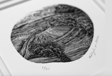 Load image into Gallery viewer, Molly Lemon Wood Engraving Landscape