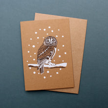 Load image into Gallery viewer, Tawny Owl Christmas Card