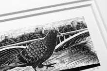 Load image into Gallery viewer, Molly Lemon Wood Engraving Pigeon