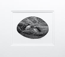 Load image into Gallery viewer, Molly Lemon Wood Engraving Puffins