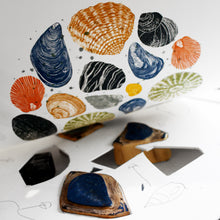 Load image into Gallery viewer, Molly Lemon Wood Engraving Seashells