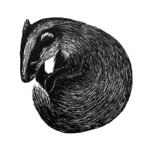 Load image into Gallery viewer, Molly Lemon Wood Engraving Badger