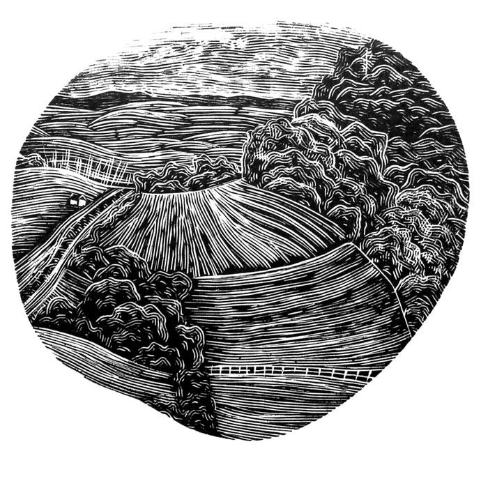 Molly Lemon Wood Engraving Landscape