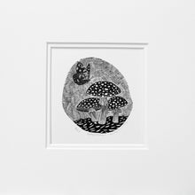 Load image into Gallery viewer, Molly Lemon Wood Engraving Toadstools