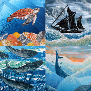 Sea Collage Card Pack