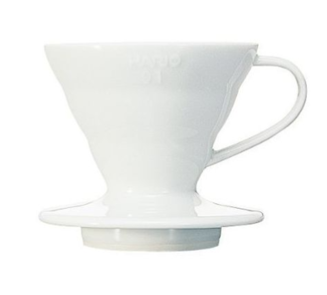 Hario V60 Coffee Dripper 01- White Ceramic