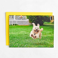 Load image into Gallery viewer, Running Dog Birthday Card