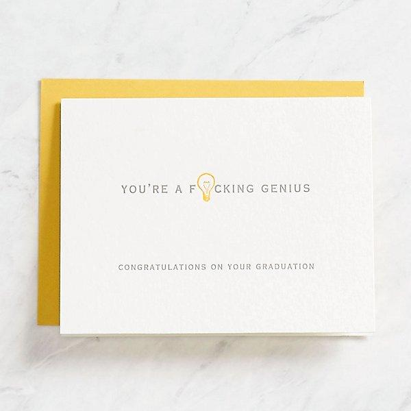 F'ing Genius Graduation Card