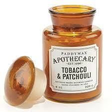 Paddy Wax Apothecary Tabacco & Patchouli 8 oz. Soywax Candle in Glass