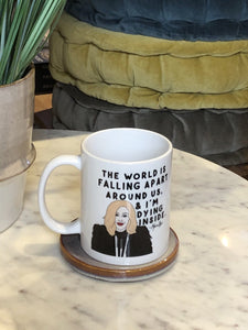 Schitt's Creek Moira Worlds Falling Apart Coffee Mug