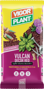 Lapillo Vulcan Decor Red Granulometria 10-15 mm Sacco da 20 l