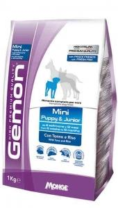 Gemon Mini Puppy e Junior con Tonno e Riso 1 kg