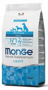 Monge All Breeds Adult Light con Salmone e Riso 2,5 kg