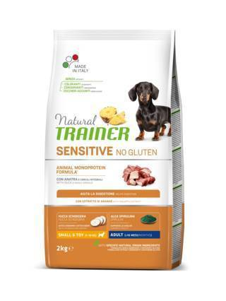 Natural Trainer Sensitive Small e Toy Adult con Anatra e Cereali 2 kg