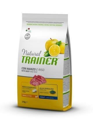 Natural Trainer Small e Toy Adult Manzo e Riso 800 g