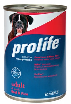 Prolife Wet Adult All Breeds Manzo e Riso 400 g