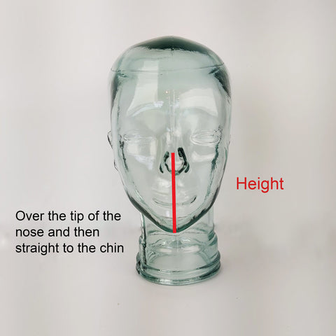 How to measure the height of the mask