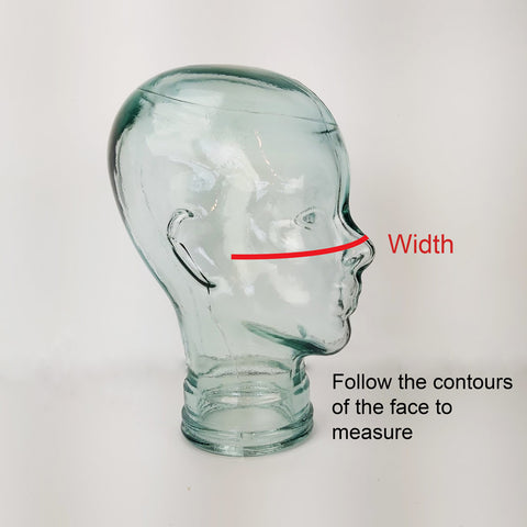 How to measure the width of the mask
