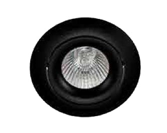 Support de spot rond orientable noir 1006