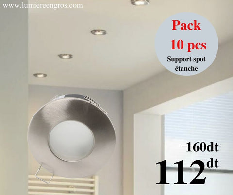 PACK de 10 supports de spot étanche satiné