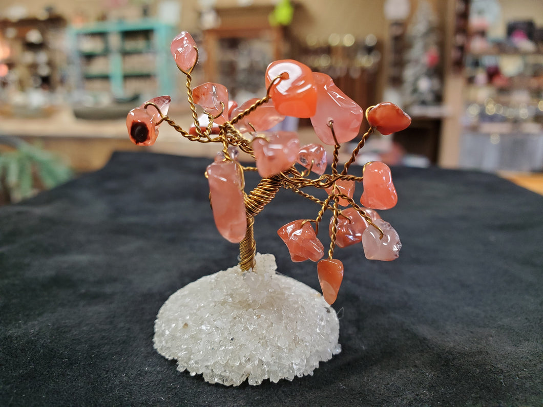 Mini Carnelian Gemstone Tree