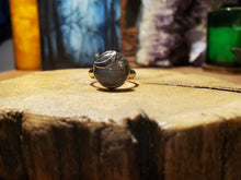 Load image into Gallery viewer, Labradorite Crescent Moon Ring $66