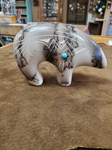 Horse Hair Pottery Sm Bear