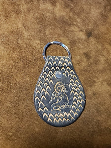 Leather Keyfob Dragon