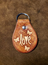 Load image into Gallery viewer, Leather Keyfob Love